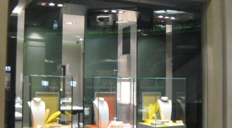 shop front display & glass cabinet