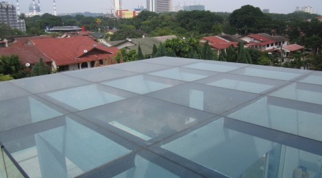Glass Roofing Malaysia Glass Roof Acts as a Sky Light