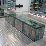 glass bench